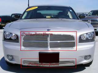 05 10 Dodge Charger Front Grill Aluminum Billet Grille Combo Insert up