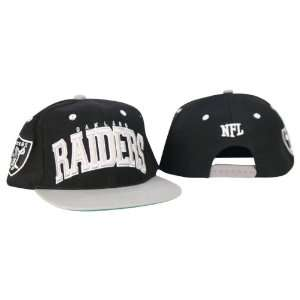 Officially Licensed NFL Oakland Raiders Flat Bill Large Logo Baseball