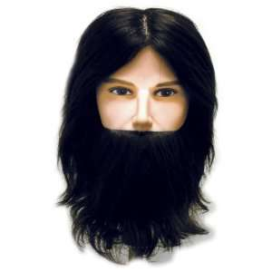 Celebrity Ryan Deluxe Cosmetology Human Hair Bearded Manikin, 20 Inch