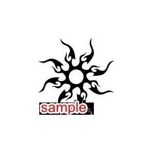 TRIBAL TRIBAL SUN 10.5 WHITE VINYL DECAL STICKER