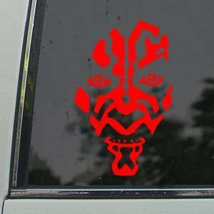 Star Wars Darth Maul Red Decal Car Truck Window Red
