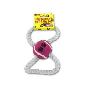 Figure eight rope and ball dog toy   Pack of 24