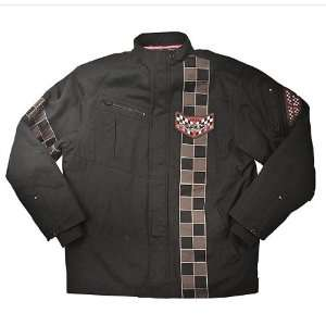 Fly Racing Station Jacket. Classic 50s Styling. Embroidery. Quilted