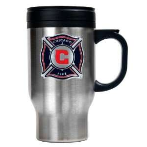 Chicago Fire MLS 16oz Stainless Steel Travel Mug   Primary