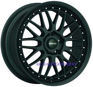 18 Tenzo R Wheels Meister black 06 Civic Jetta Golf A3