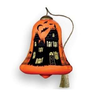 Art Haunted House Halloween Ornament by Susan Winget