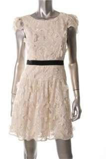 BCBG Maxazria NEW White Cocktail Dress Textured Sale 02