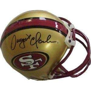 Dwight Clark signed San Francisco 49ers Replica Mini Helmet Current