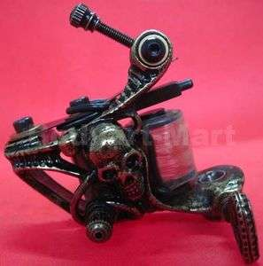 Custom Pro Copper 10 Wrap Coils Tattoo Machine Gun For Kit Power