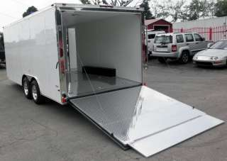 NEW 8.5 X 18 ENCLOSED TRAILER BIKE CAR HAULER CUSTOM