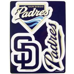 SAN DIEGO PADRES TEAM LOGO CAR FRIDGE MAGNET SET (3