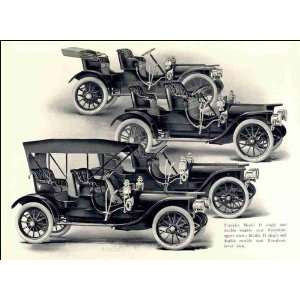 rumble seat runabout, upper view; Model H single and double rumble