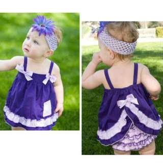 Girl Baby Toddler Ruffle Top Dress Pants Set New Bloomers Nappy Cover