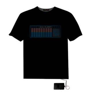 Sound Activated Disco Music LED EL Equalizer T Shirt