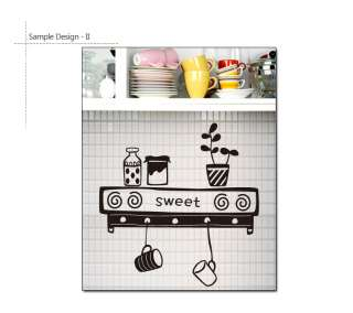 SWEET KITCHEN Removable Wall Decor Vinyl Decal Stickers