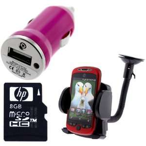 HP 8GB Micro SDHC Class 4 Memory Card + USB Car Charger