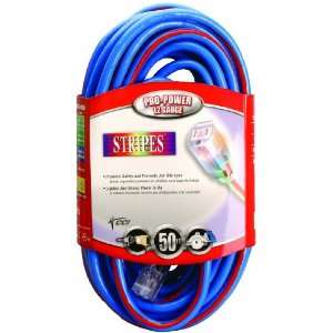 Cable 02548 64 50 Foot 12/3 Neon Outdoor Extension Cord, Blue/Red