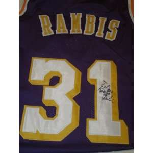 Kurt Rambis Signed Autographed Jersey Los Angeles Lakers