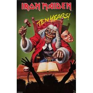 Iron Maiden   Eddie The Judge   Original 1990 23x35 Poster
