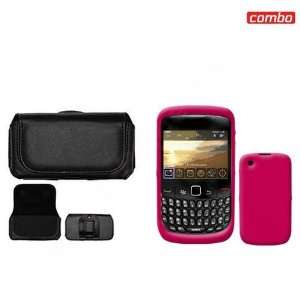BlackBerry Gemini 8520/Curve 8530 Combo Trans. Hot Pink Silicon Skin