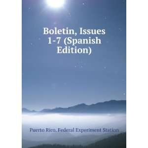 Spanish Edition) Puerto Rico. Federal Experiment Station Books