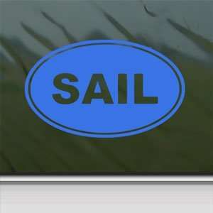 Sail EURO OVAL Blue Decal Car Truck Bumper Window Blue