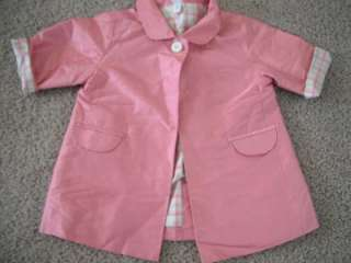 girl BABY GAP PINK JACKET dress coat SPRING silk 3 6 mo