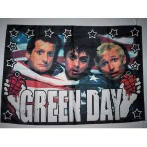 GREEN DAY 5x3 Feet Cloth Textile Fabric Poster