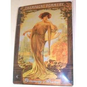 French Art Deco Advertising Sign   Champagne Pommery