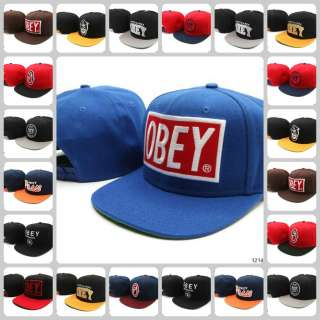 New Fashion Obey Snapback Hats adjustable Baseball Cap Hip Hop 25
