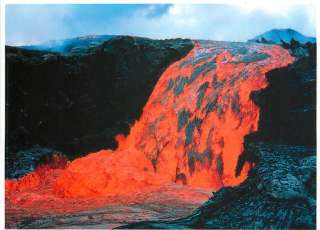 Lava Flow from a Hawaii Volcano Geology Postcard