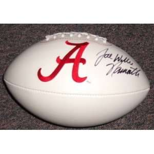 Joe Willie Namath Signed Alabama Football Gai   Autographed College