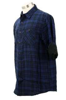 Nautica Mens Casual Shirt Long Sleeve Plaid Button Front 100% Cotton