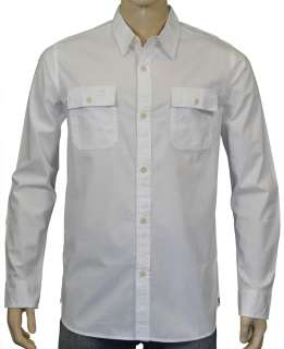 Quiksilver Mens Gonzorama Long Sleeve Shirt White Large $55.00