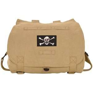 Khaki Jolly Roger Patch Vintage Retro Hungarian Messenger