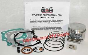 Honda TRX350 350 Rancher Engine Motor Top End Rebuild Kit & Machining