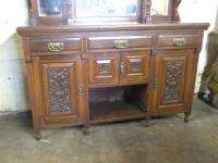 ANTIQUE VICTORIAN CARVED SIDEBOARD BUFFFET CABINET HUCH