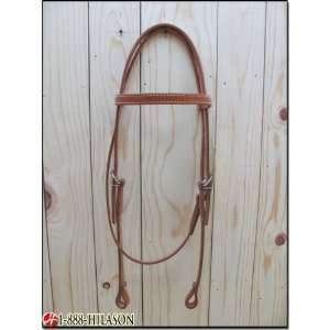 Western Leather Tack Horse Bridle Headstall With Reins