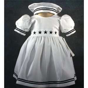 Baby Girl Tuxedo/christening Baptism/sailor/all Sizes/b/s3 6 Months M