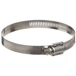 Steel 300 Worm Gear Hose Clamp, 3 5/16 Min Clamp ID, 4 1/4 Max