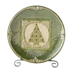 Tree Irish Blessing Dessert Plate with Stand