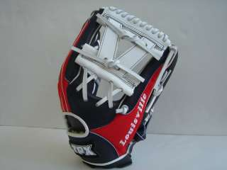 Louisville Slugger TPX 12 Fielder Baseball Glove Red Navy White USA