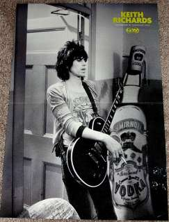KEITH RICHARDS ROLLING STONES GIBSON LES PAUL POSTER