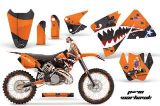 AMR RACING PARTS GRAPHICS KIT KTM 01 02 EXC BACKGROUNDS