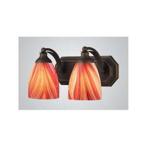 Lighting 2 Light Aged Bronze Contemporary Bathroom Vanity Light