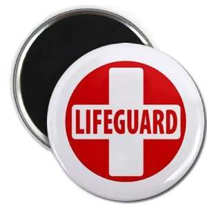 LIFEGUARD CROSS Red White Heroes 2.25 Fridge Magnet