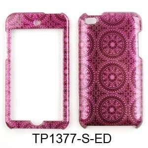COVER FOR APPLE IPOD ITOUCH 4 TRANS HOT PINK CIRCULAR PATTERNS Cell