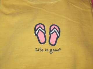 NWT Life Is Good SS FLIP FLOPS Sandals on Sunny WOMEN
