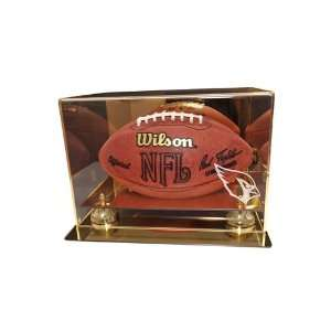 Arizona Cardinals Football Display Case with Gold Mirror