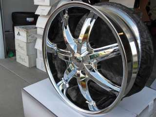 Wheel + Tire Package 20 inch Triple chrome rim U2 35S